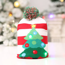New year 2019 Christmas Hat Kids Adult LED Light Santa Claus Reindeer Snowman Xmas Gifts Cap noel home decorations for christmas(China)