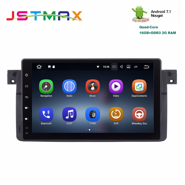 US $368 0 |Car radio GPS for BMW E46 M3 3 Series Android head unit Stereo  navi navigation multimedia radio 3G WIFI free map SD card RDS-in Car