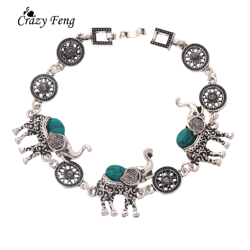 HTB1zJEKQpXXXXc7XFXXq6xXFXXX7 - Fashion Green African Jewelry Sets for Women Vintage Silver Color Elephant Pendant Necklace Earrings Bracelets Jewellery Gift