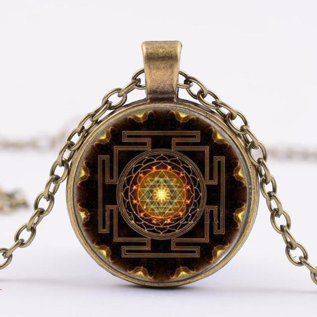 Vintage buddhist sri yantra pendant necklace sacred geometry sri vintage buddhist sri yantra pendant necklace sacred geometry sri yantra jewelry for woman man jewelry wholesale aloadofball Image collections