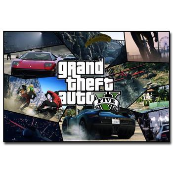 Шелковый Плакат Гобелен Grand Theft Auto V Вариант 6