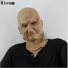 realistic silicone masks, old man mask, mens masquerade masks christmas, full head halloween party cosplay face mask