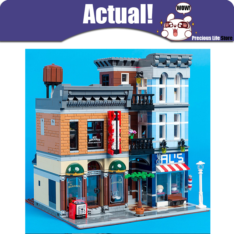 LEPIN 15011 Detective's Office Street View Creator Building Blocks Bricks Toys DIY For Kids Model Compatible withINGly a toy a dream lepin 15008 2462pcs city street creator green grocer model building kits blocks bricks compatible 10185