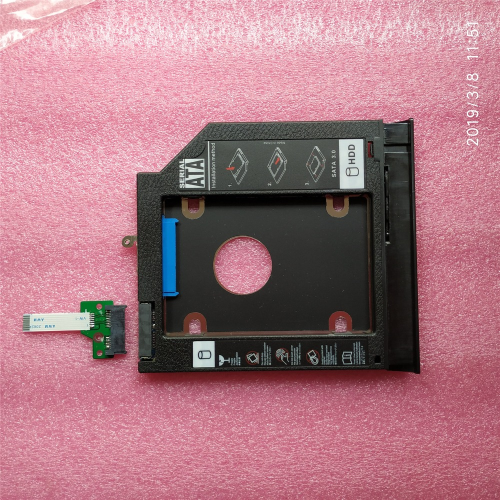 New For lenovo IdeaPad 100-15IBD 15.6 SATA OPTICAL DRIVE BOARD With Cable NS-A681+ 2nd HDD Hard Drive Caddy Tray