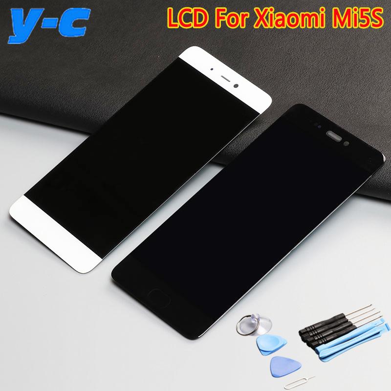 Prix pour Pour Xiaomi Mi5S LCD Display + Tactile + Outil de Haute Qualité 100% Nouveau Digitizer Écran Tactile Panneau de Verre Pour Xiaomi Mi5/Mi 5S 5.15 pouce
