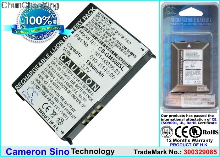 Cameron Sino 1880mAh Battery 010-11143-00 for Garmin Aera 500, 510, 550, 560, Nuvi 500/510/550, Zumo 220/600/650/660, 660LM garmin zumo 395
