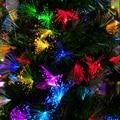 10 м 100 светодиодная гирлянда  Рождественское украшение  Одуванчик  оптическое волокно  Сказочная гирлянда  романтическая атмосфера  вечерин...