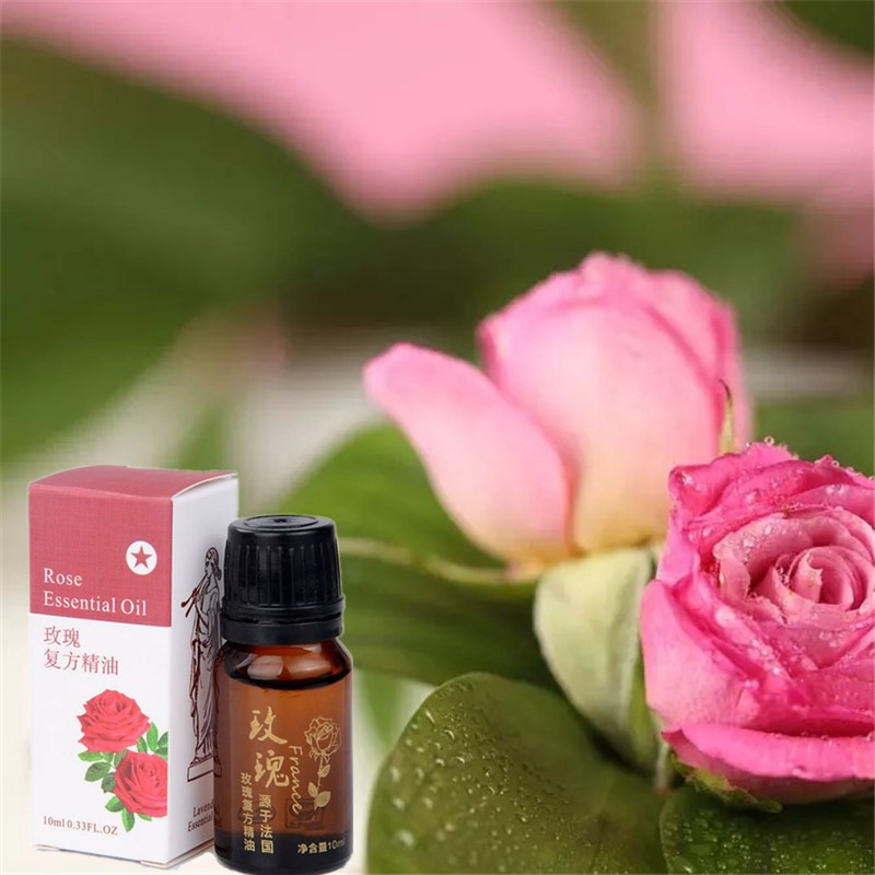 100% Pure Rose Essential Oil 10ml for Remove Acne and Fade Acne Marks, Help Sleep, Face Care Oil From Nature Rose Oil image