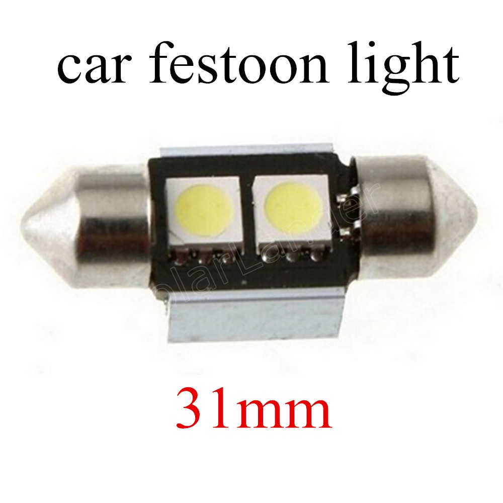 high power 10Pcs 1.92W LED 31mm 2SMD 5050 best price sale Car F-estoon Lights Pure White Auto Interior Reading Lamps