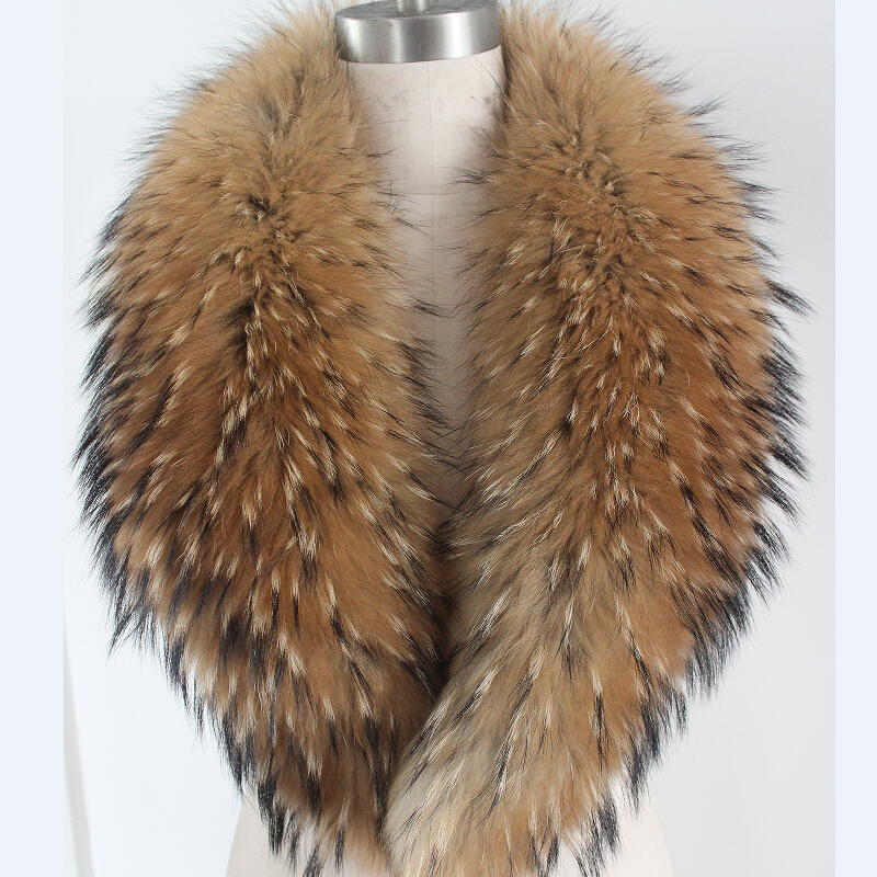 Glaforny 2018 femmes Super grande mode fourrure de raton laveur col écharpe fourrure de raton laveur châle col de fourrure 80 cm-110 cm livraison gratuite