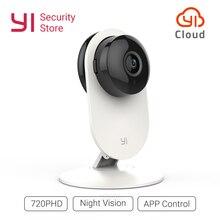 YI Home камера 720 P HD безопасности видео мониторы IP беспроводной сети наблюдения ночное видение оповещения обнаружения движения EU/US глобальный