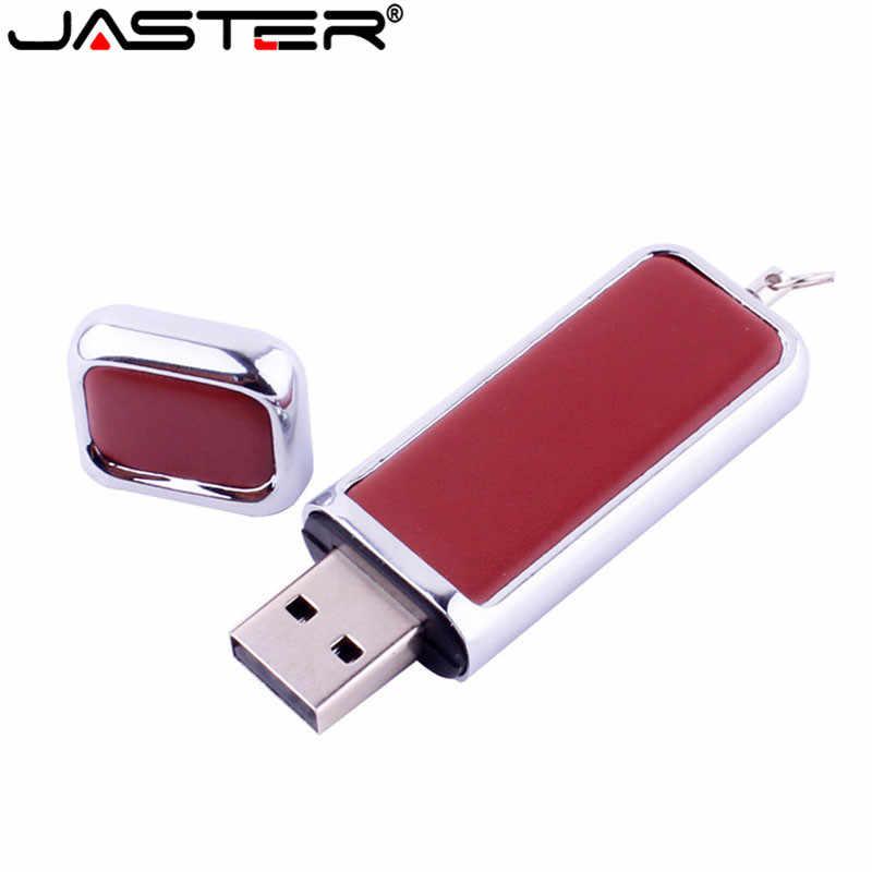 JASTER encapuzados flash drive chaveiro de couro memory stick pendrives gb 32 8 gb comercial 4 gb 16 gb, 10 LOG personalizado gratuitamente
