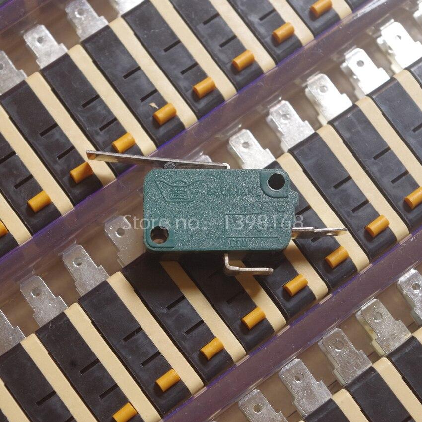 100 шт. microswitch концевой выключатель n/o n/c микро-переключатель с чипом для аркада кнопку джойстика Запчасти /baolian