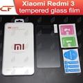 Vidrio templado de 5.0 pulgadas 100% original xiaomi redmi 3 premium protector de pantalla de cine para xiaomi redmi3 hongmi 3 pro teléfono móvil
