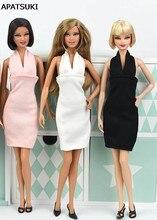 59e517f227 3 unids lote vestido de moda para muñeca Barbie una pieza atractivo Vestidos  de noche Vestidos ropa para Barbie princesa 1 6 bjd.
