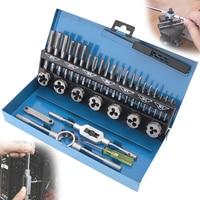 32pcs Set HSS Metric M3 M12 Tap Die Set 1st 2nd Plug Finishing For Metalworking