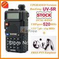 Envío gratuito en existencia baofeng uv-5r de banda dual 136-174/400-520 mhz de banda dual con gratis ptt auricular