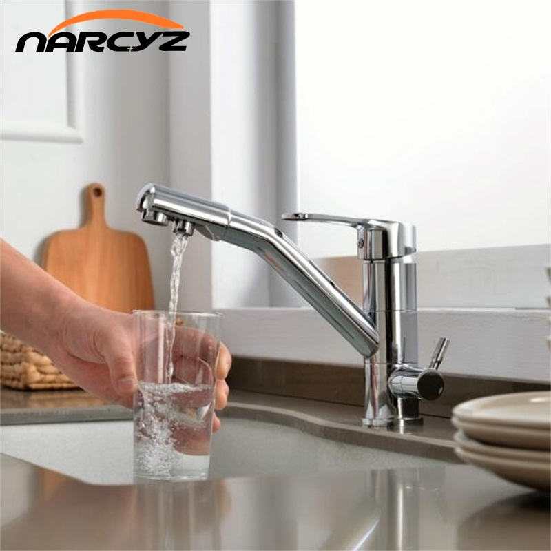 New Style Kitchen Purify Chrome Faucets Mixer Tap 360 Degree Rotation with Water Purification Features Mixer