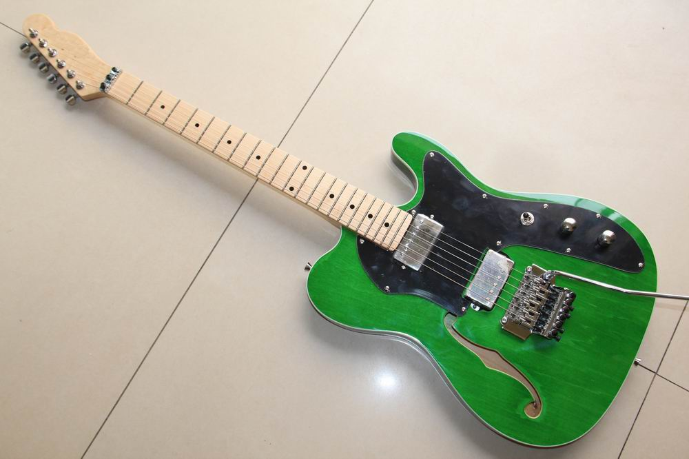 free shipping new arrival 6 strings tel electric guitar brand new in green 130315 in guitar from. Black Bedroom Furniture Sets. Home Design Ideas