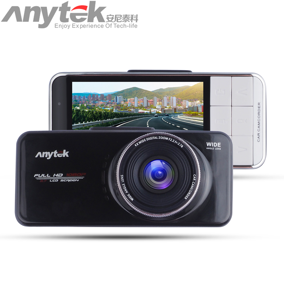 цены  Hot Original Anytek AT66A Car Camera DVR Recorder full HD Novatek 96650 Black Box 170 Degree 6G Lens Super Night Vision Dash Cam