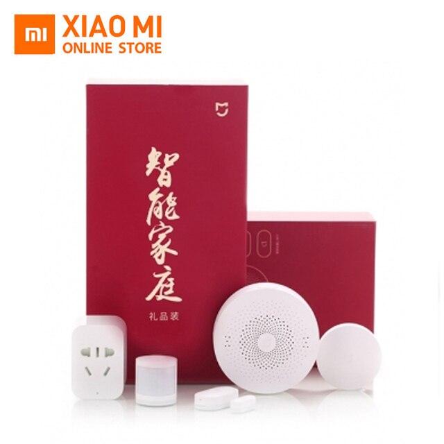 Newest Version Xiaomi mijia Smart Home Kits Gateway Door Window Sensor Human Body Sensor Wireless Switch Zigbee Socket MI home