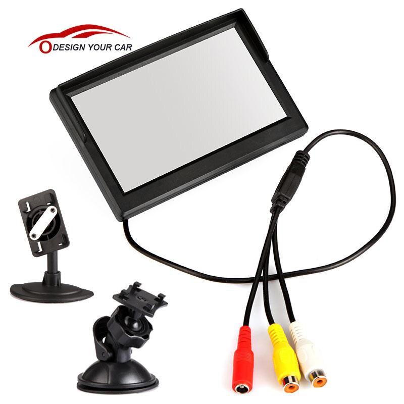 """imágenes para 5 """"TFT LCD Monitor Del Coche cámara de visión trasera de Ayuda Al Aparcamiento con espejo monitor Auto Reverse Monitor Del Coche TV de DVD de Copia de seguridad pantalla"""