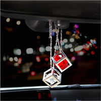 Auto Anhänger Kristalle Rubik Cube Auto Charme Rückspiegel Dekoration Automobil Ornamente Hängen borte Innen Suspension