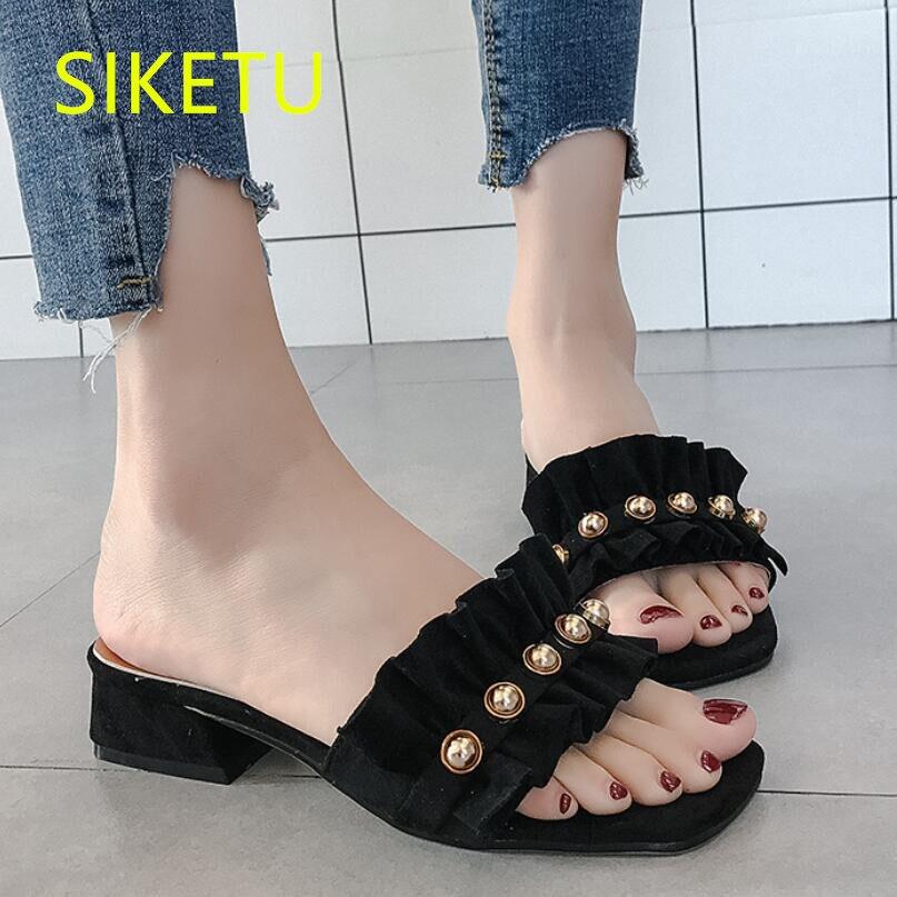 SIKETU/бесплатная доставка, весенне-осенние модные туфли на высоком каблуке, пикантная женская обувь, свадебные туфли-лодочки из флока g391
