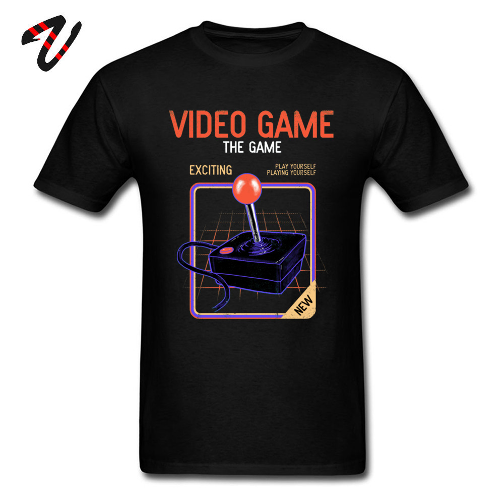 Fashionable Video Game _black T-Shirt for Men On Sale Thanksgiving Day Round Collar 100% Cotton Short Sleeve T-shirts Tee Shirts Video Game 21389 black