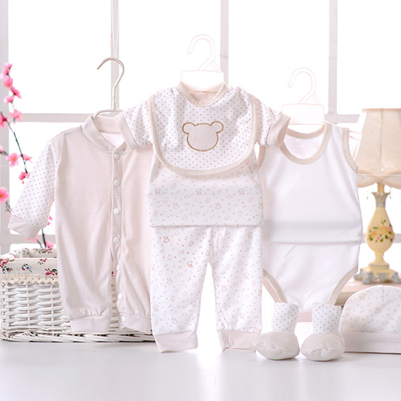 8pcssetNewborn-Baby-set-0-3M-Brand-Boy-Girl-baby-Clothes-set-Cotton-Printed-Single-breasted-Underwear-B-021-3