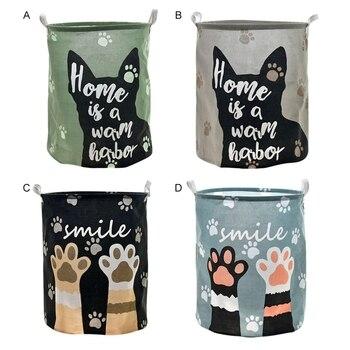 עמיד למים כלב טופר דפוס אחסון קריקטורה סלי אחסון בגדים מלוכלכים סל עיצוב הבית חבית ילד צעצוע ארגונית דלי