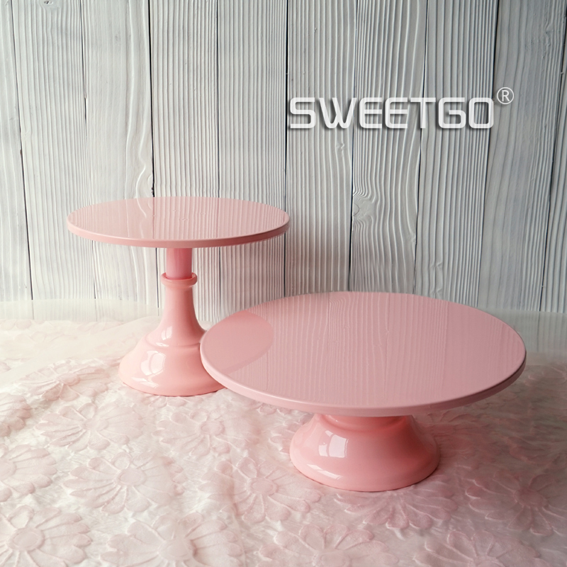 SWEETGO Baby pink fondant cake stand cake pops wedding table decorating <font><b>tools</b></font> dessert candy bar 10inch adjustable 12inch