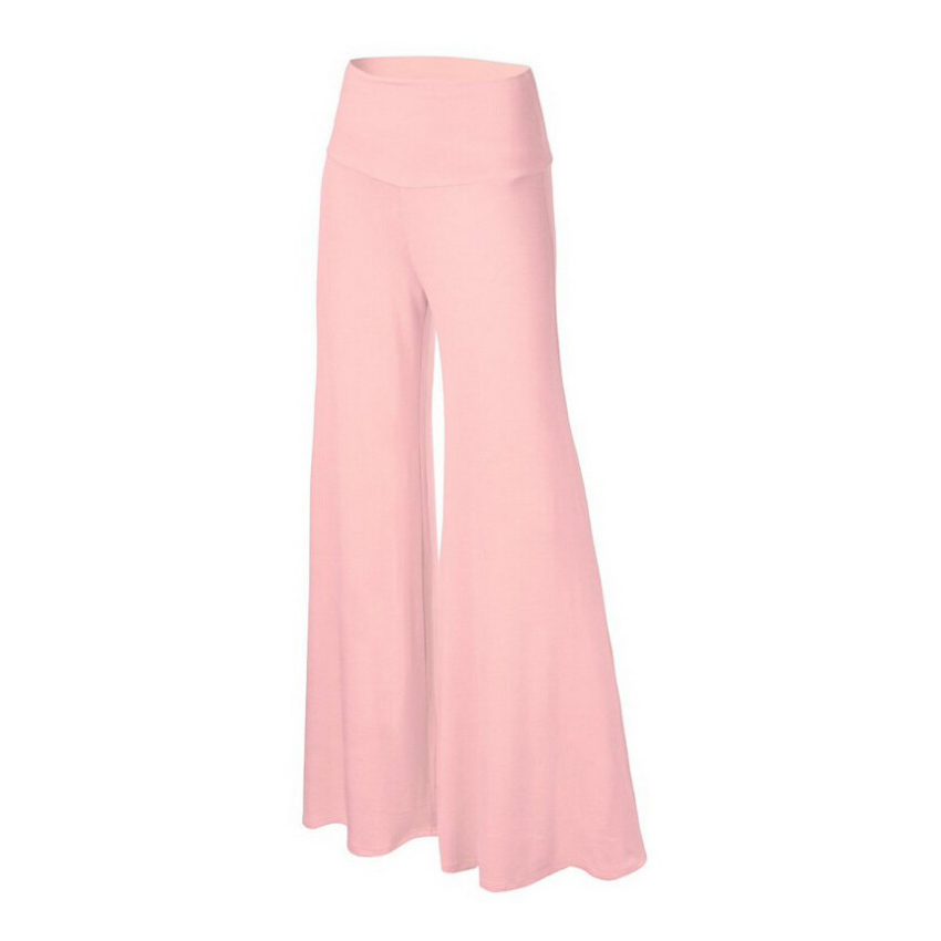 Femme Spring Autumn Mid Waist Wide Leg Trousers Simple Fashion Casual Women Pants