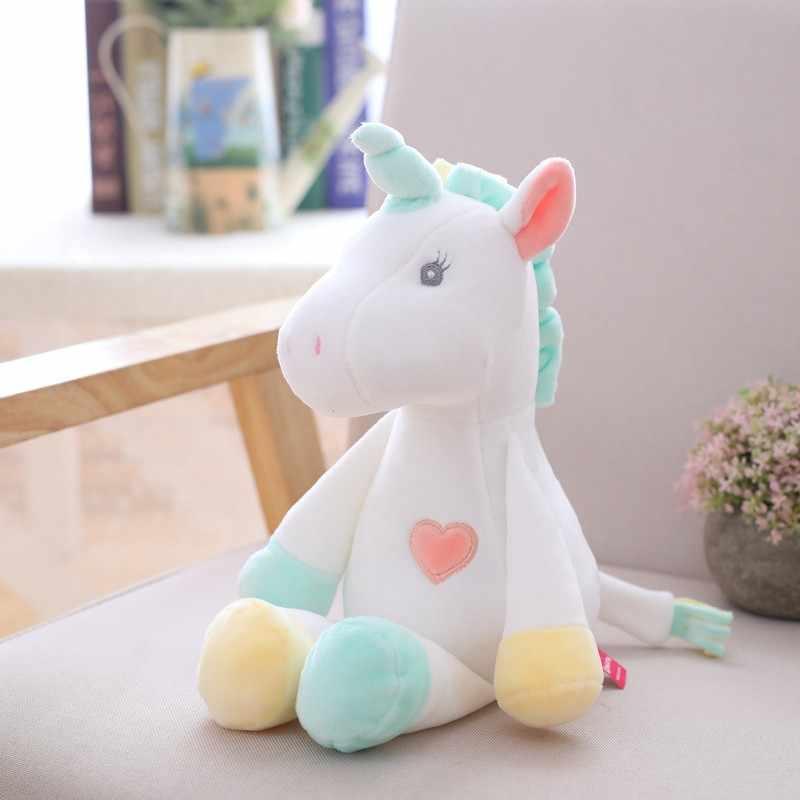 2019 ใหม่น่ารัก Unicorn Plush Toy Rainbow ตุ๊กตานกฮูกตุ๊กตาตุ๊กตาสัตว์ตุ๊กตาเด็กทารก Sleep appease ตุ๊กตาวันเกิดของขวัญสำหรับสาว