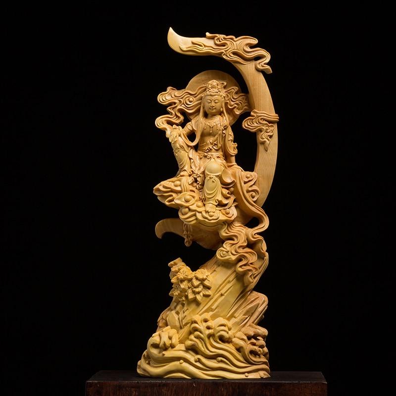 Статуя Будды деревянная статуя статуэтки Будды сад omaments фэн шуй резьба по дереву украшения дома Буда статуи для домашнего декора