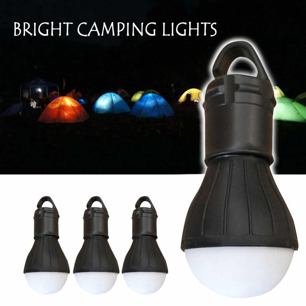 Lâmpada de emergência ao ar livre led acampamento hik tenda pesca lanterna pendurado abs luz preto lâmpadas iluminar decoração casa 23may 30