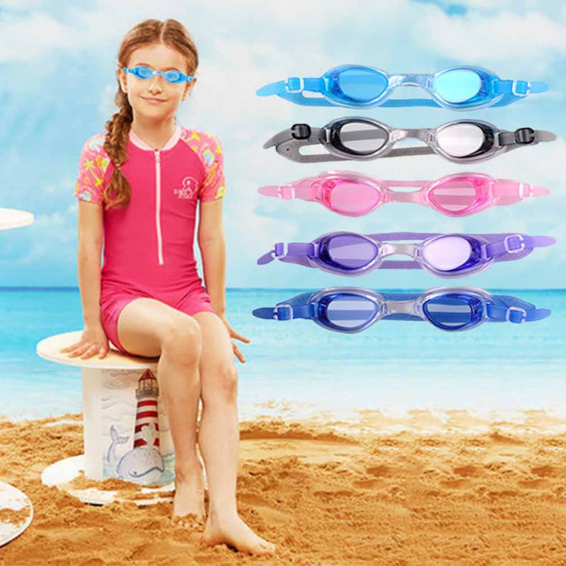 Children Kids Outdoor Swimming Goggles HD Flate Silicone Waterproof Anti-fog  UV PC Underwater Eyeglasses