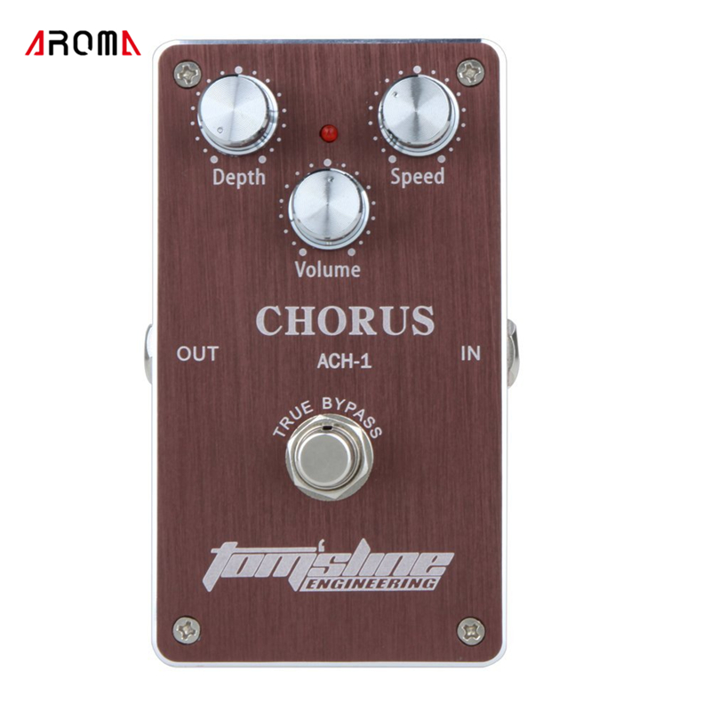 Aroma ACH-1 Guitar Electric Effect Pedal Chorus Low Noise True Bypass Guitar Parts & Accessories mooer mini ensemble king electric guitar effect pedal true bypass pure analog chorus sound