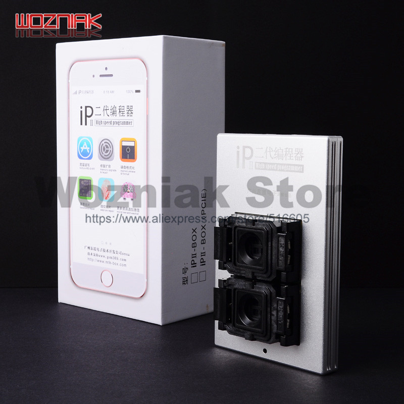 Wozniak IP Box 2th Newest IP BOX V2 High Speed Programmer NAND PCIE Programmer For IPhone 4S 5 5C 5S 6 6P 6S 6SP 7 7P All IPad