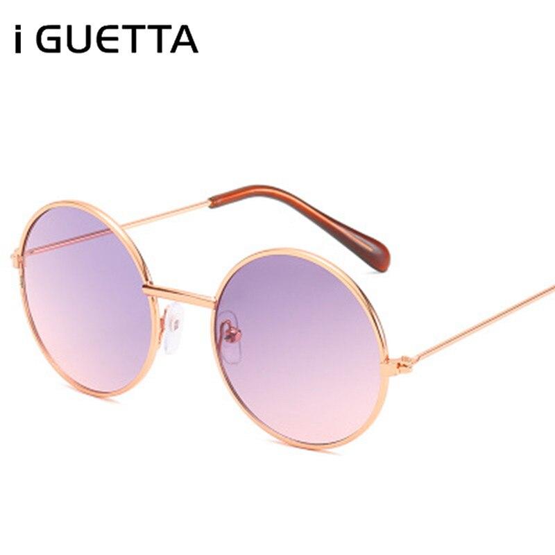 IGUETTA Retro Kids Sunglasses Girls Round Goggle Candy Color Lens Glasses 2019 New Round Sunglass For Boys Girls Child IYJA607