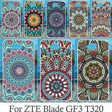 Akabeila Чехол для мобильного телефона ZTE лезвие GF3 T320 4.5 дюймов крышка DIY Окрашенные Защитная В виде ракушки