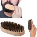 Men's Natural Boar Bristle Beard Mustache Oil Brush Military Wood Handle