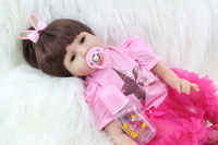 Reborn Girl Doll Toddler Toy Lifelike Vinyl