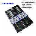 Бесплатная Доставка! Новый 4 ГБ (2 шт. * 2 ГБ) DDR2 2 ГБ 800 МГц/PC2-6400U Для Рабочего Стола оперативной Памяти