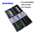 Free Shipping! Brand New 4GB(2pcs*2GB) DDR2 2GB 800Mhz / PC2-6400U For Desktop Ram Memory