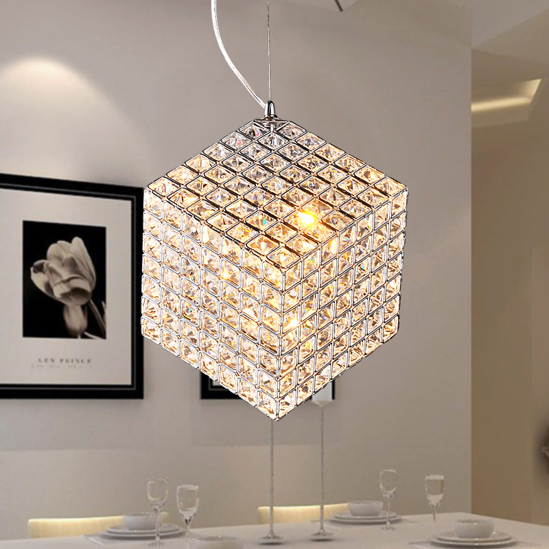 K9 Crystal Chandelier Modern Simple Living Room Bedroom Dining Lighting Square In Pendant Lights From On Aliexpress