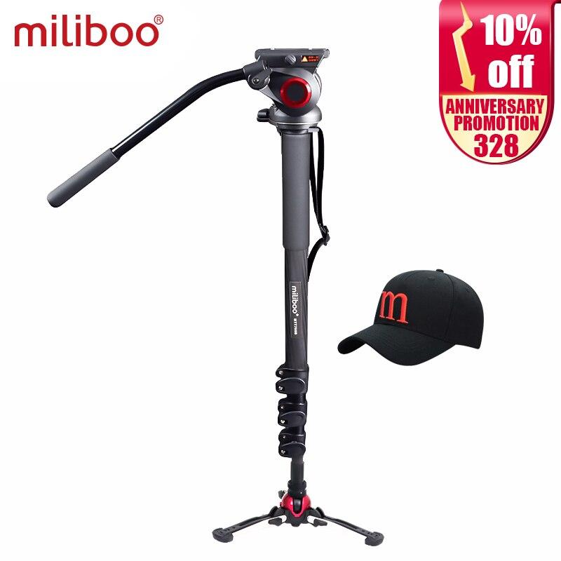 miliboo MTT704B Profesionální Přenosný Carbon Fiber Kamera Videokamera Stativ pro Video / DSLR Stand, Poloviční Cena Manfrotto  t