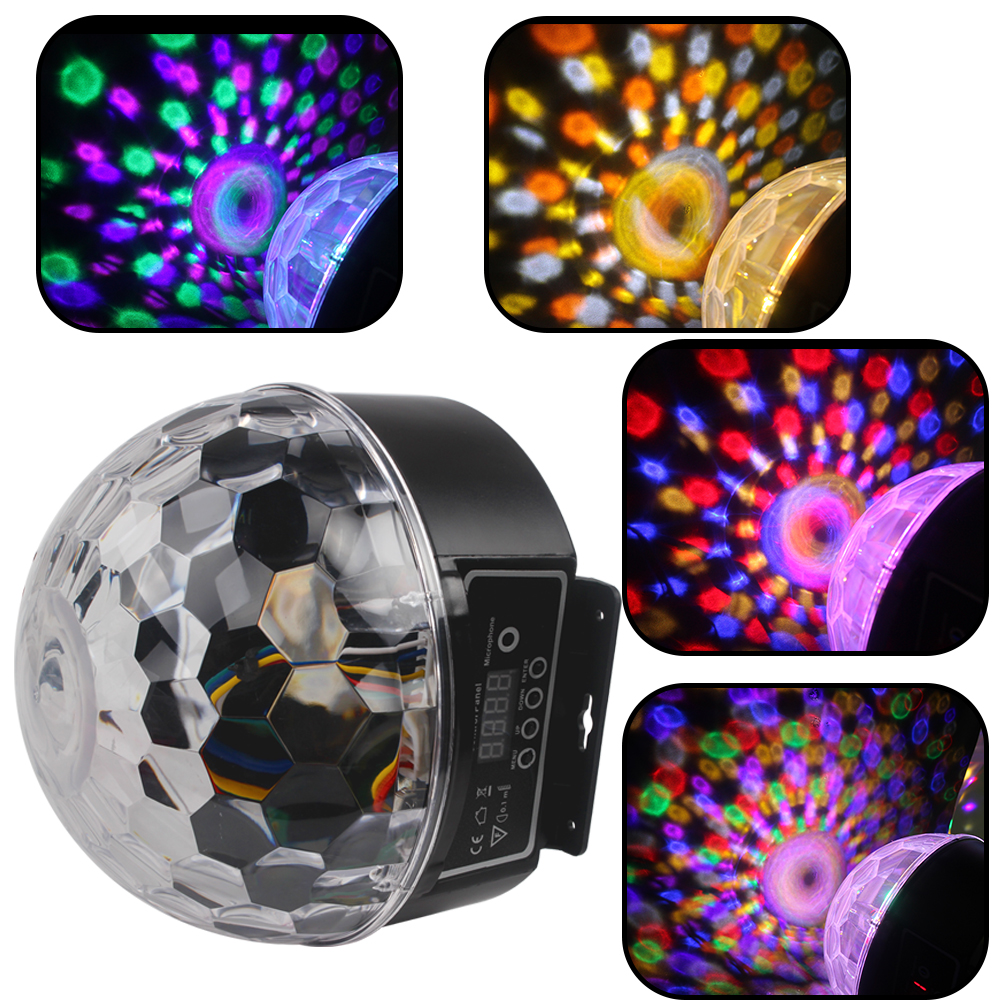 9 Colors 27W Party Disco DJ Bar Bulb Lighting Show US EU Plug Sound Control LED Crystal Magic Ball Light  Stage Lighting Effect mini rgb led crystal magic ball stage effect lighting lamp bulb party disco club dj light show lumiere