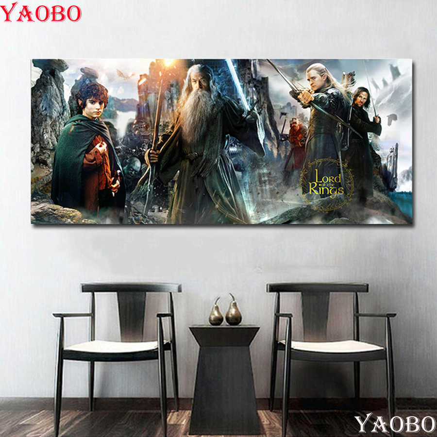 Full Square Diamond Painting The Lord Of The Rings Wall Poster MOVIE Rhinestone Pictures Diamond Mosaic Embroidery Home Decor