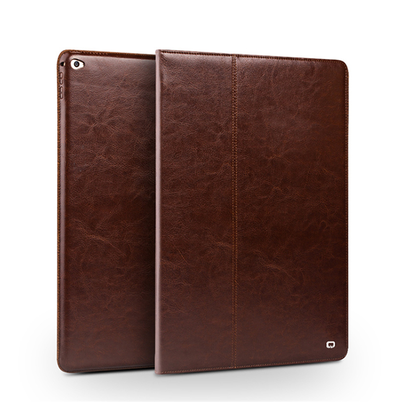 For iPad Pro 12 9 Genuine Real leather Case Ultra slim Wallet Stand cases Cover Shell
